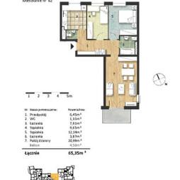 Mieszkanie w inwestycji Osiedle Słoneczne, budynek Budynek 2, symbol 62