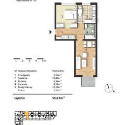 Mieszkanie w inwestycji Osiedle Słoneczne, budynek Budynek 1, symbol 33