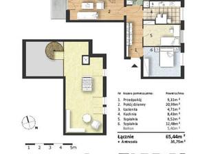 Mieszkanie w inwestycji Osiedle Słoneczne, budynek Budynek 1, symbol 43