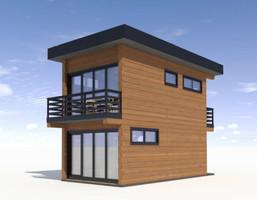 Dom w inwestycji Satori House (śląskie), budynek Opcja Pod klucz z płytą fundamentową, symbol S06P08